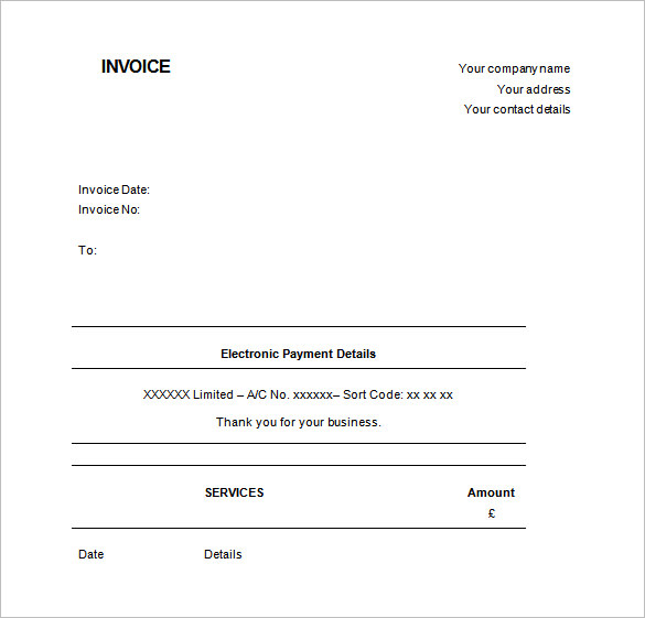 Receipt Template Doc for Word Documents in Different Types You Can Use - microsoft invoice template uk