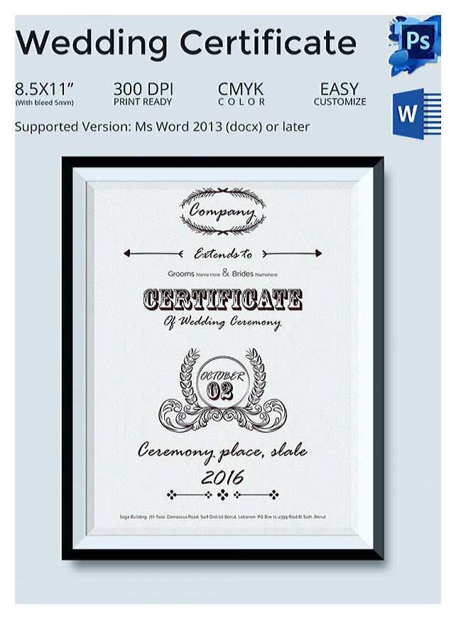 Designing Using Marriage Certificate Template for Your Own Certificate - marriage certificate template