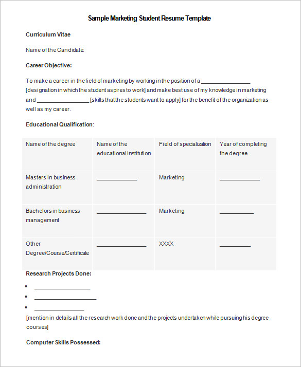 Resume Example Student resume templates you can download 3 - example of student resume