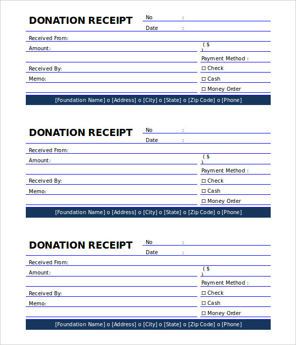 Word Donation Form gatechien - generic donation form