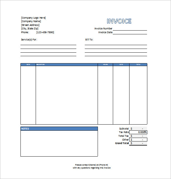 Invoice Template for Mac Online - tax invoice template excel