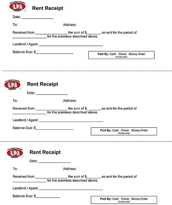 Landlord Rent Receipt sample rent receipt form 10 free – Download Rent Receipt Format