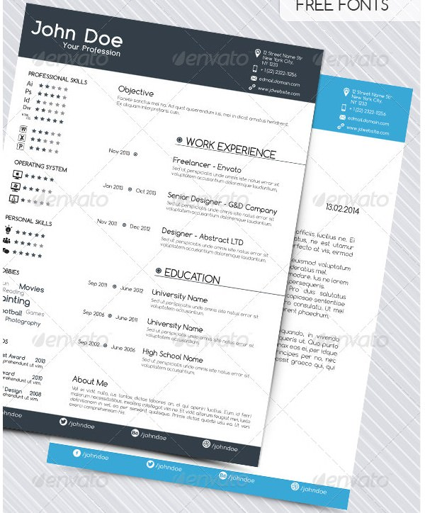Mac Resume Template \u2013 Great for More Professional yet Attractive - resume software mac
