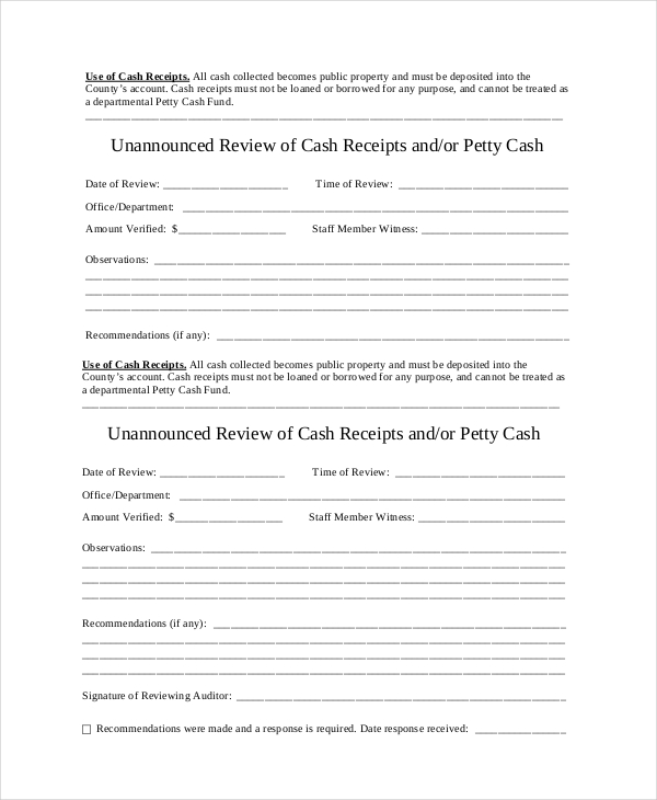 Cash Receipt Template to Use and Its Purposes - cash invoice template