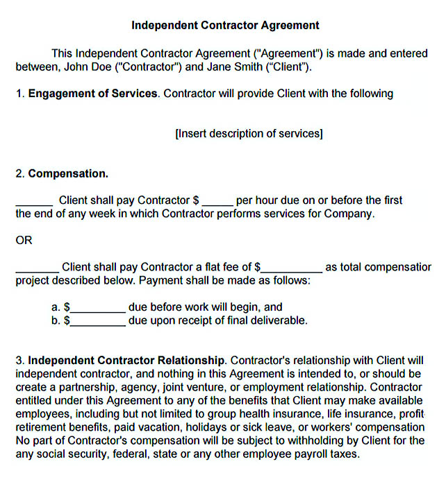 11+ Subcontractor Agreement Template for Successful Contractor Company - sample independent contractor agreement