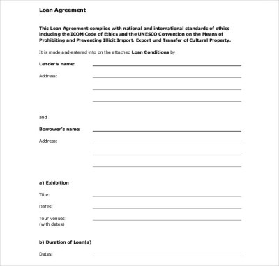 26+ Great Loan Agreement Template