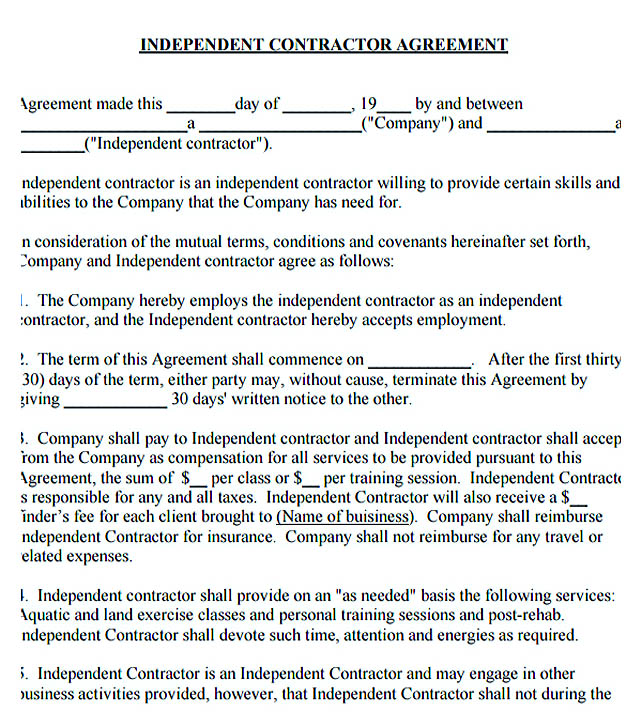 Independent Contractor Agreement Template Uploaded By, Adham - subcontractor agreement template