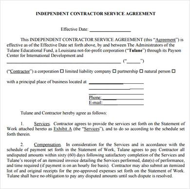 Basics to Make Your Own Service Agreement Template - business service agreement