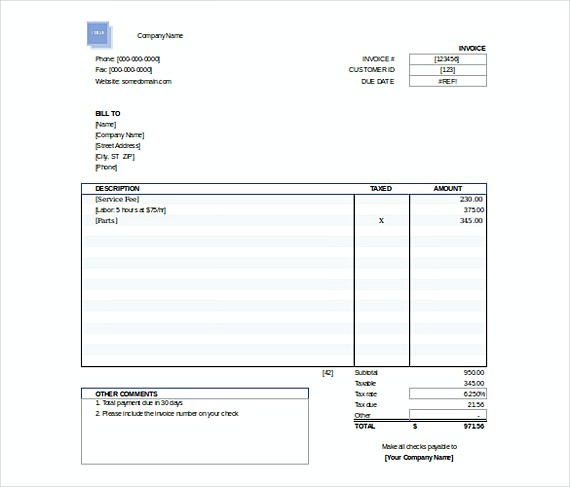 Downloadable Invoice Template - free invoicing templates