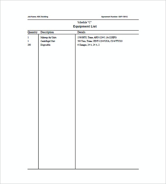HVAC Invoice Template - hvac invoice templates