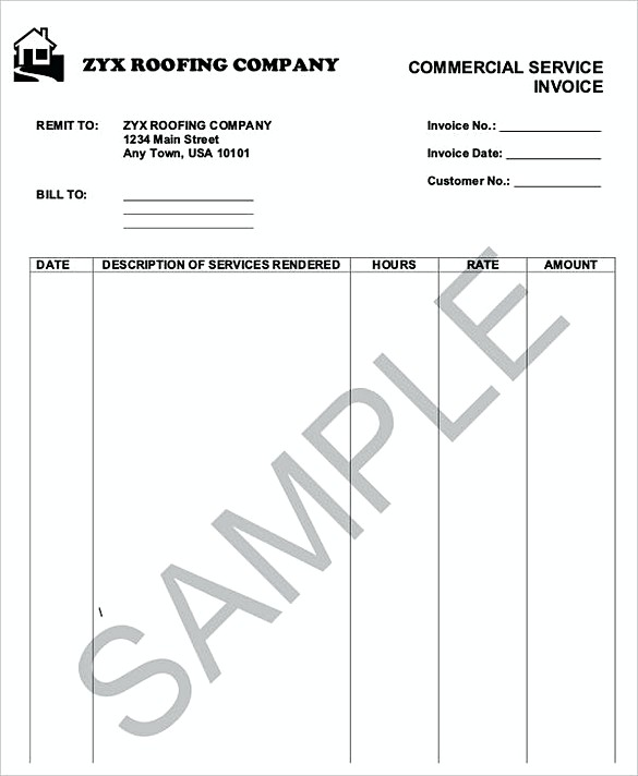 How to Plan Roofing Invoice Templates - invoice tempaltes