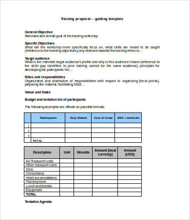 Training Budget Template