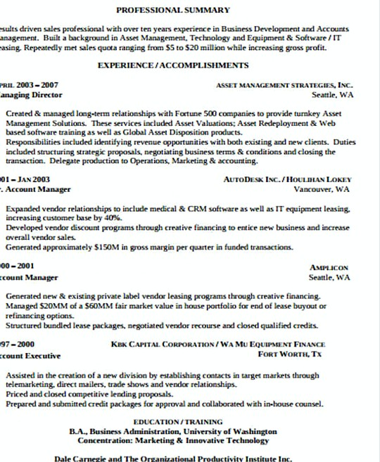 infrastructure manager resume template