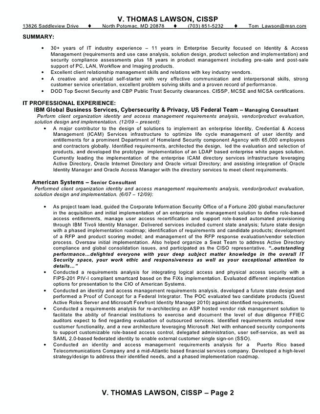 oracle identity manager sample resume
