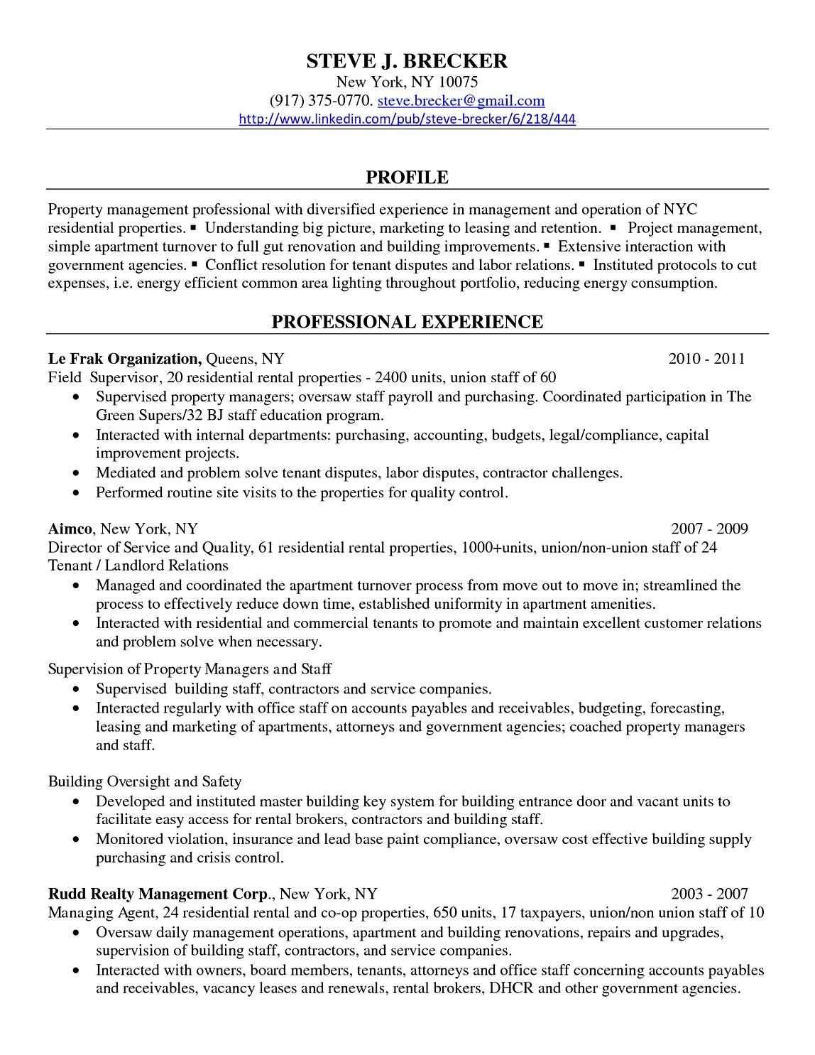 resume samples for regional manager