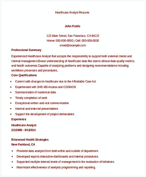 Data Analyst Resume Entry Level - public health analyst sample resume