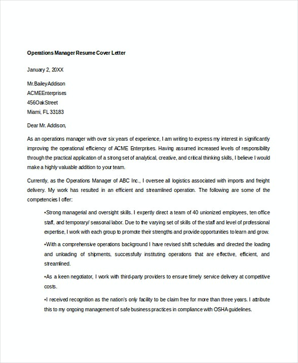Logistics manager cover letter College paper Academic Service - operations manager cover letter