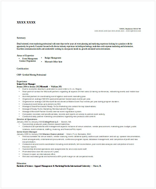 senior account manager resume template
