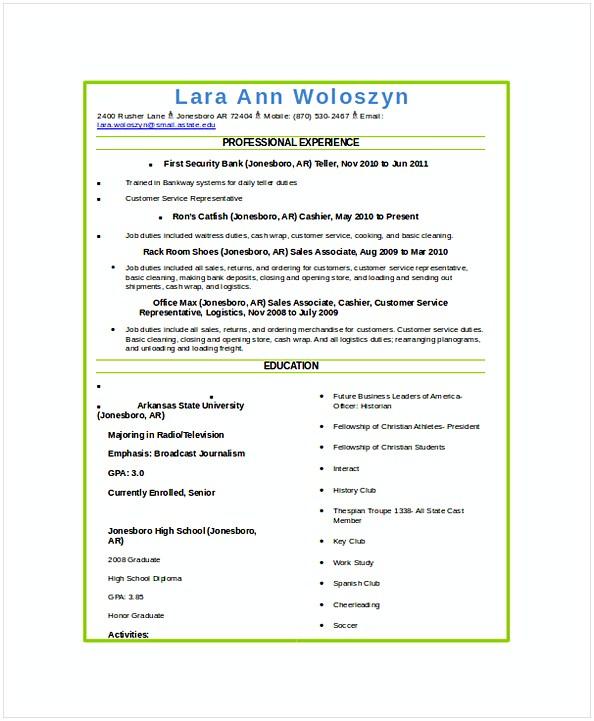 resume examples waitress docs
