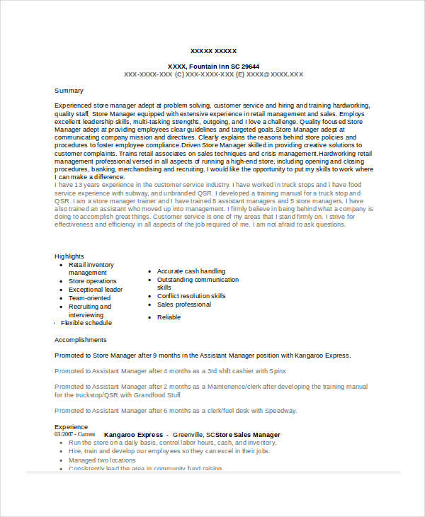 furniture sales manager resume examples