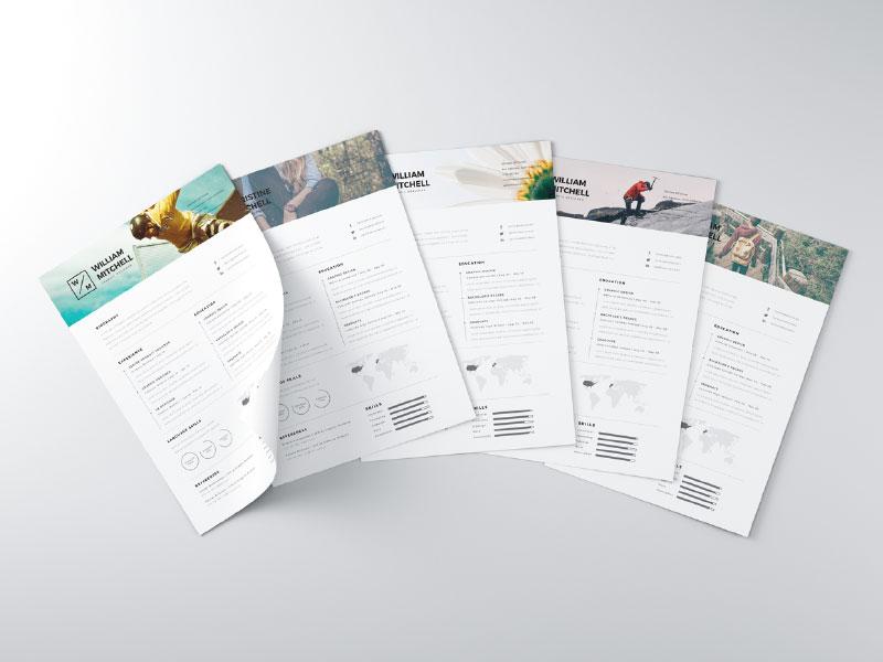 28 Minimal \ Creative Resume Templates - PSD, Word \ AI (Free - microsoft word resume templates free