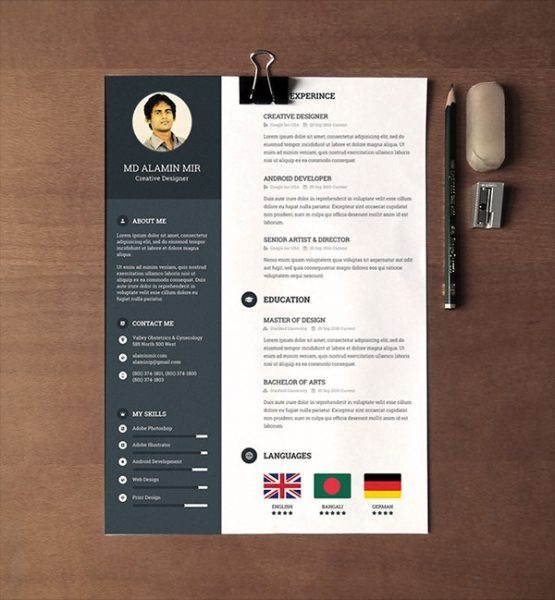 Resume Templates 28 Minimal And Creative Resume Templates Psd Word And Ai