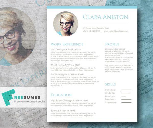 28 Minimal \ Creative Resume Templates - PSD, Word \ AI (Free - free resume layouts