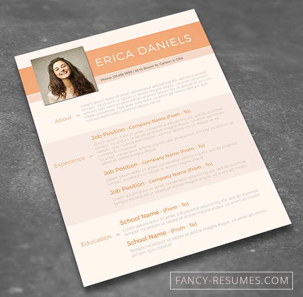 colourful cv template