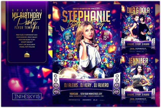 31+ Awesome Birthday Flyer PSD Templates 2018 - Templatefor