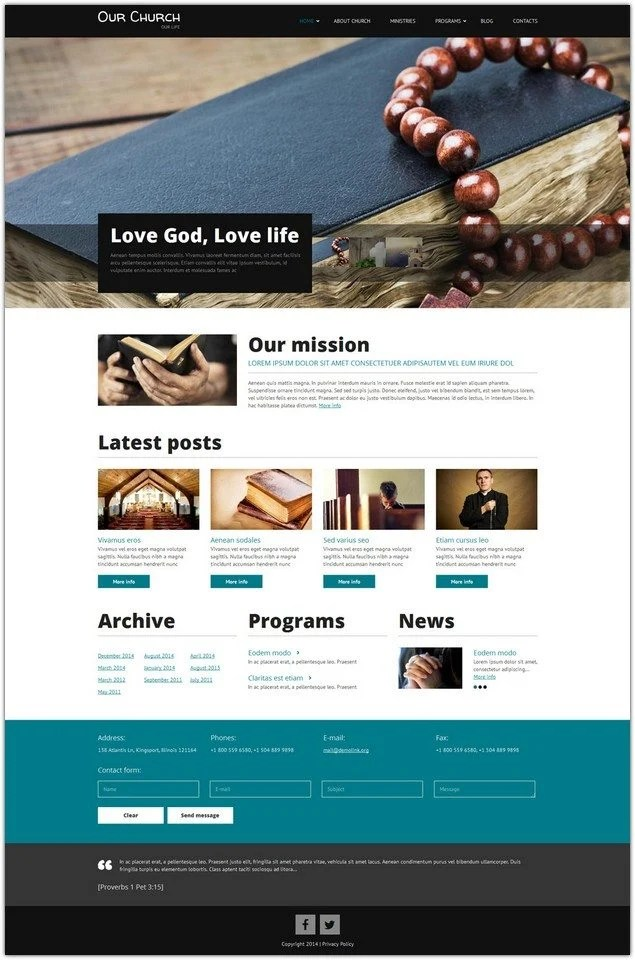 8+ Best Church Drupal Themes  Templates 2018 - Templatefor