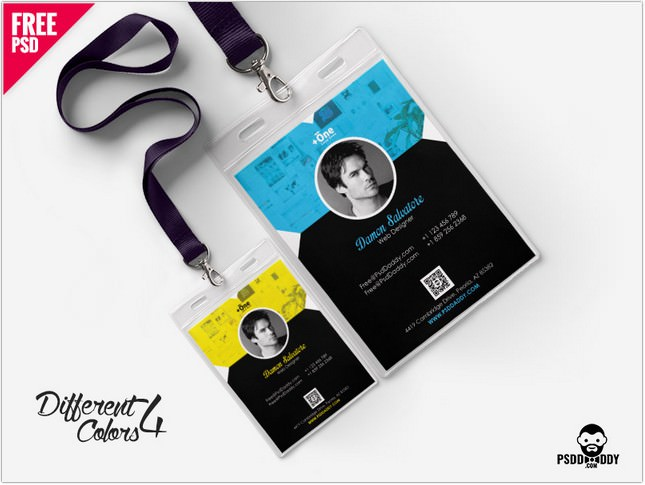 25+ Top Vertical ID Card Templates  Designs \u2013 PSD, AI, EPS