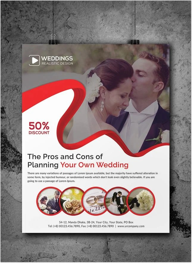 22+ Awesome Wedding Planner Flyer Template  Designs - PSD, AI