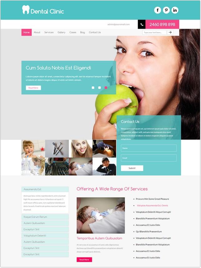 dental web template - Gurekubkireklamowe