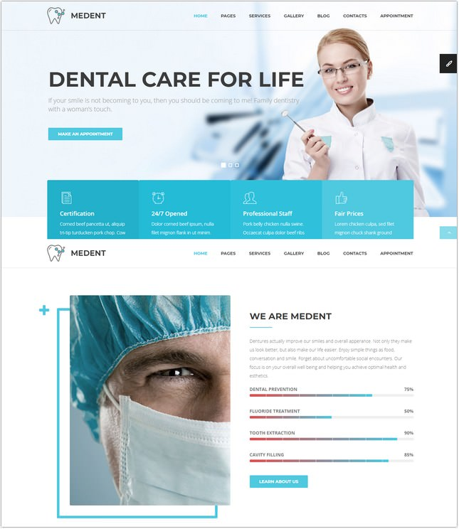 22+ Best Dental Clinic Website Templates  Themes 2018 - Templatefor