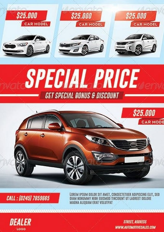 car sale flyer - Towerdlugopisyreklamowe