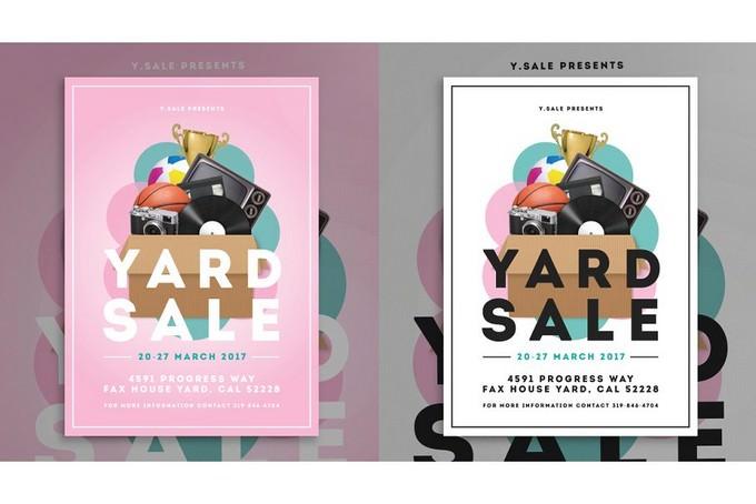 15+ Creative Garage Sales Flyer Templates  Designs \u2013 PSD, AI