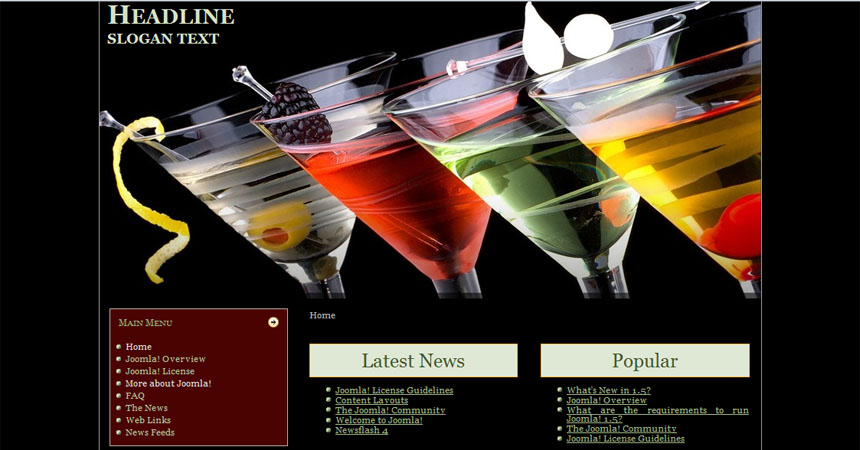 bar drink menu templates free - Free Drink Menu Template
