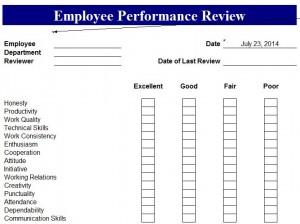 Employee Performance Evaluation Template Word | Sample Customer ...