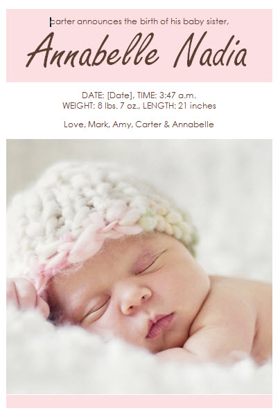 Top Result 60 Fresh Baby Birth Announcements Templates for Free