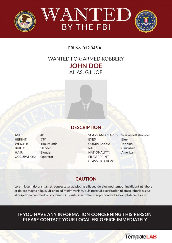 29 FREE Wanted Poster Templates (FBI and Old West) - poster word template