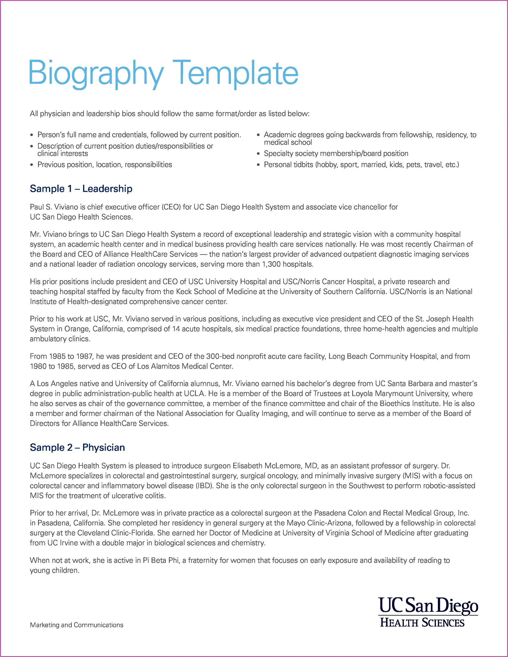 45 Biography Templates  Examples (Personal, Professional)