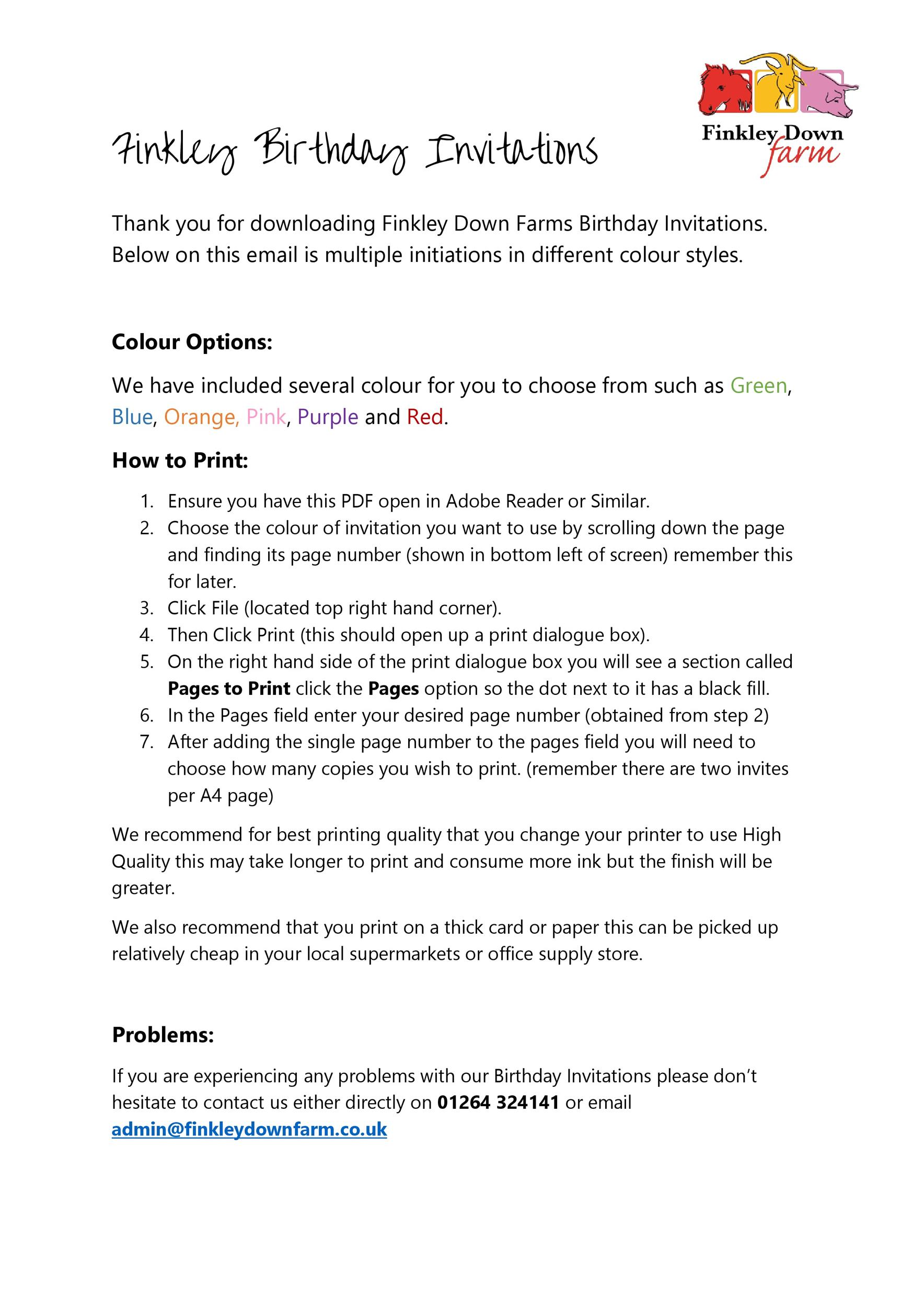40+ Free Birthday Party Invitation Templates ᐅ Template Lab
