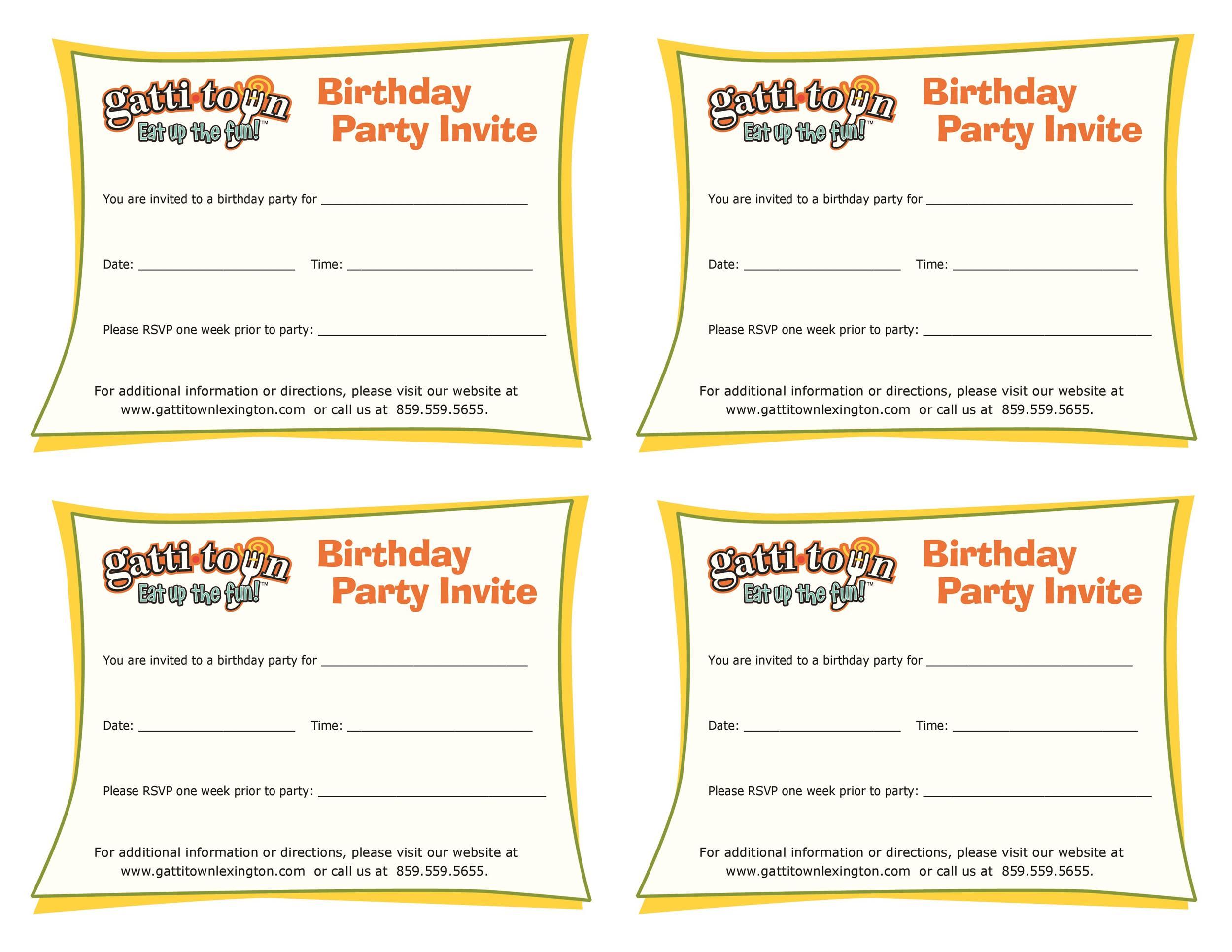 40+ Free Birthday Party Invitation Templates - Template Lab