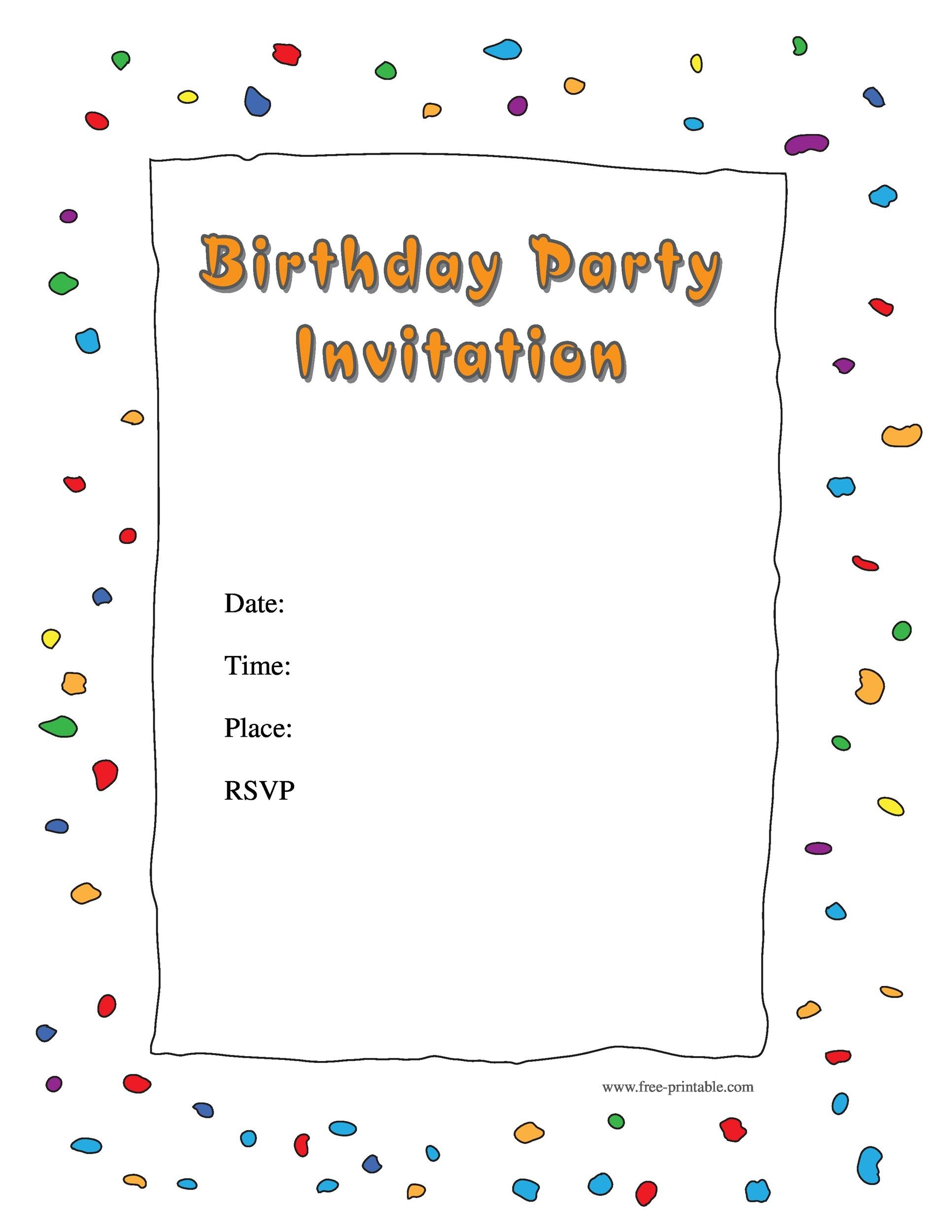 40+ Free Birthday Party Invitation Templates - Template Lab - format for birthday invitation