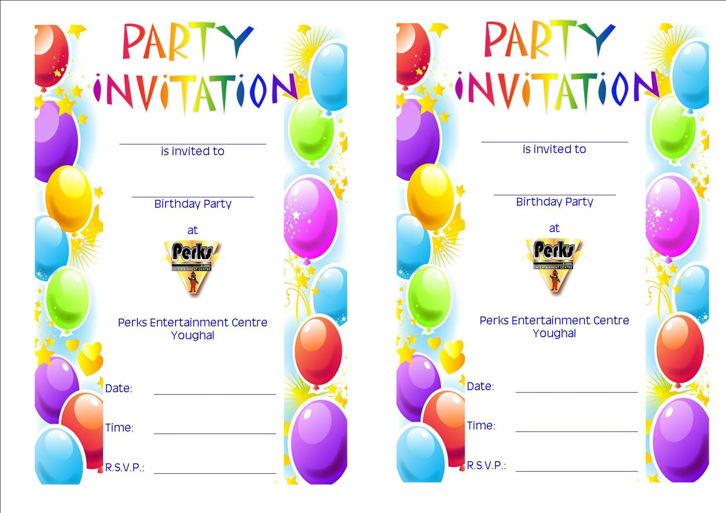 40+ Free Birthday Party Invitation Templates - Template Lab