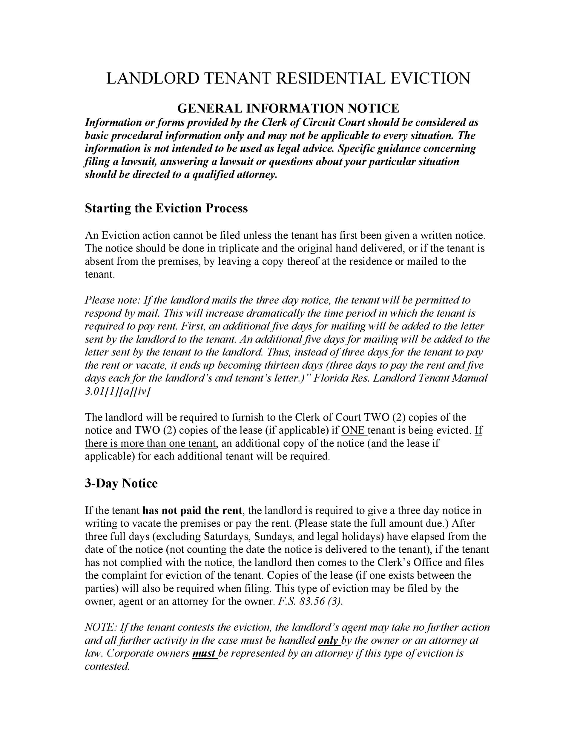 45 Eviction Notice Templates  Lease Termination Letters - copy of an eviction notice