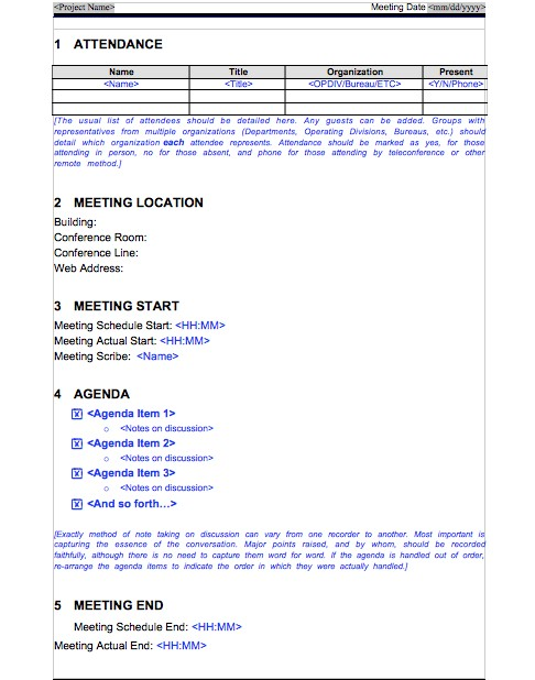20 Handy Meeting Minutes \ Meeting Notes Templates - meeting minute format