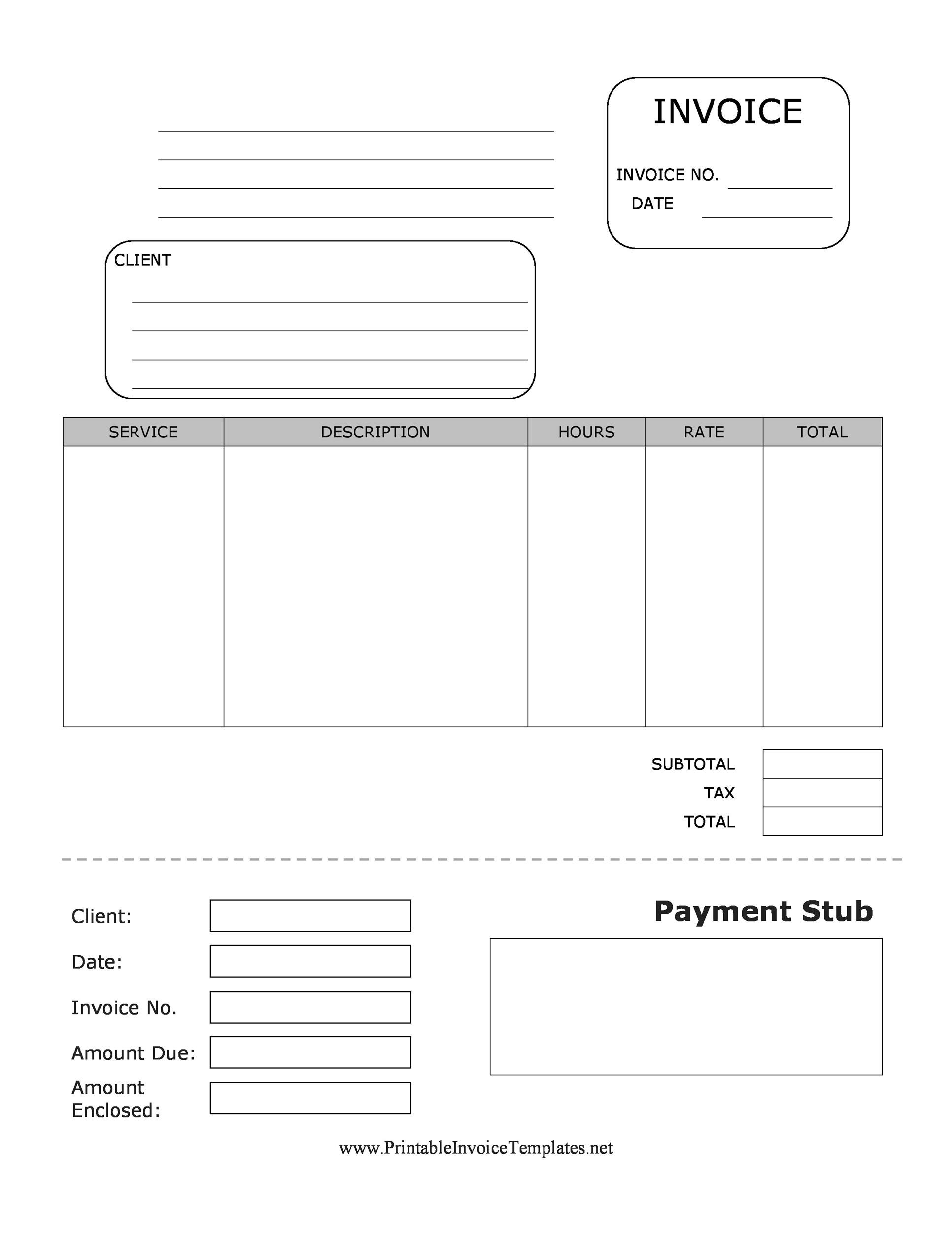 25 Great Pay Stub / Paycheck Stub Templates - Sample Paycheck Stubs