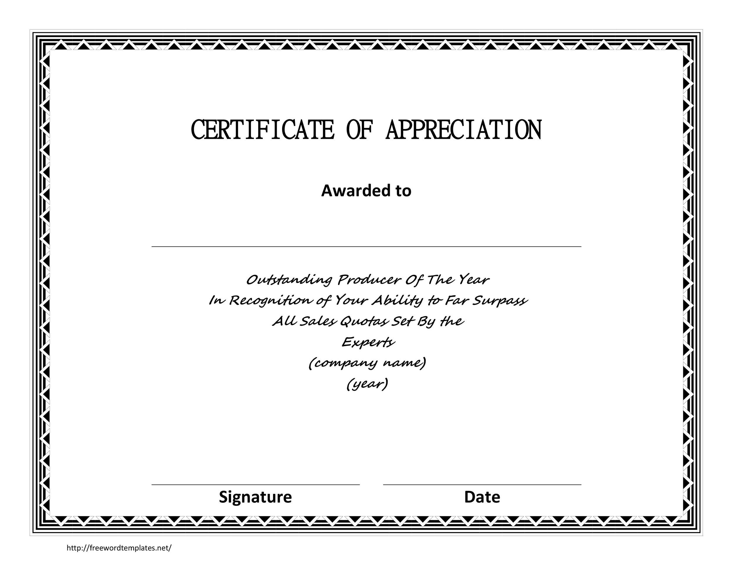 sample of certificate of appreciation for employee - Onwebioinnovate