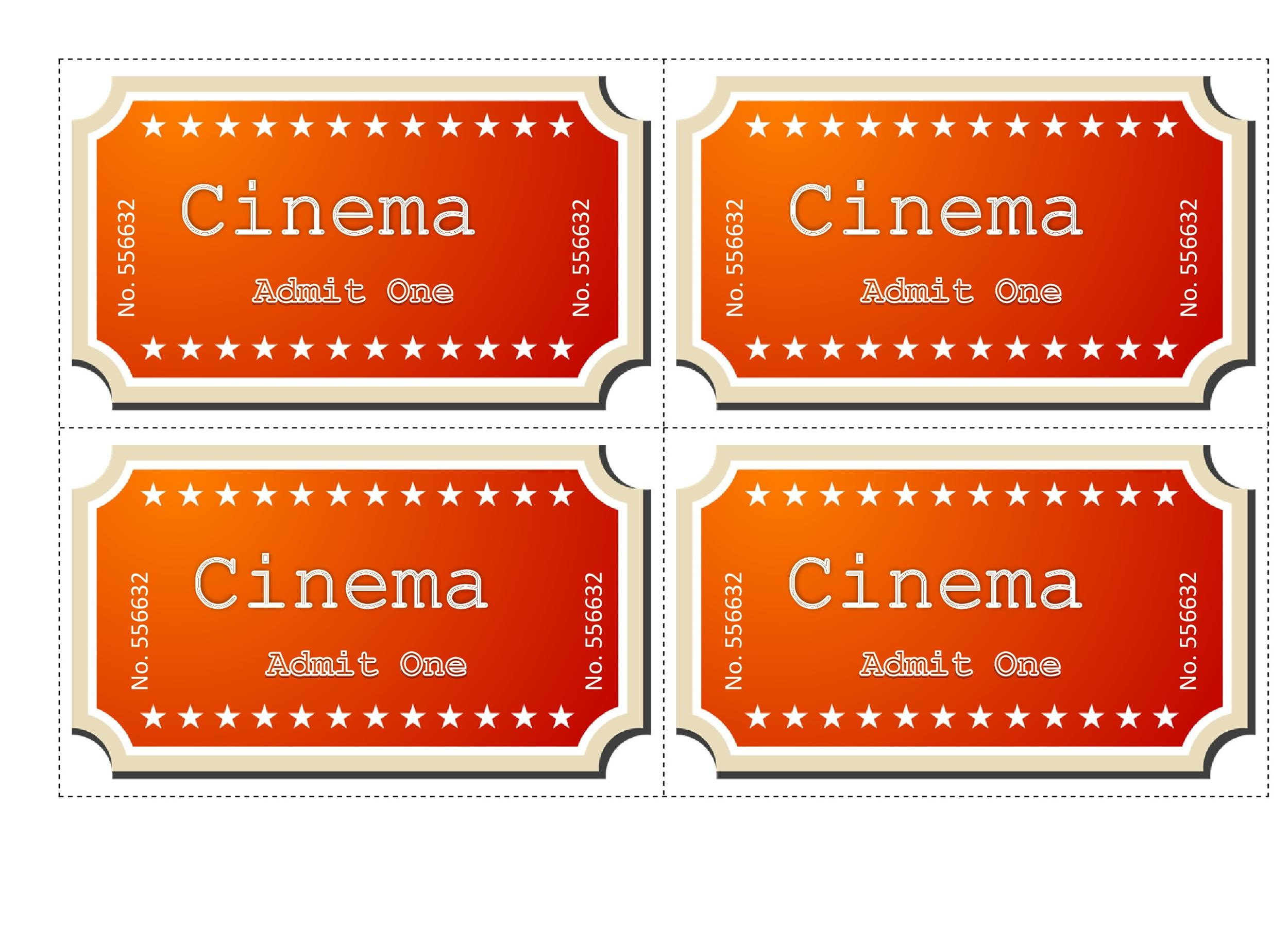movie ticket template for word - Yelommyphonecompany